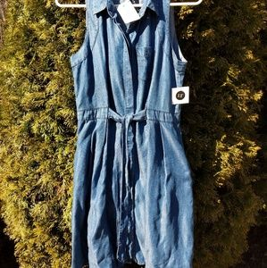 Velvet Heart Denim Dress